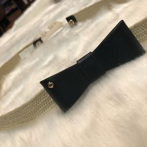 NWT Kate Spade Weaved Belt w/ Bow Size XS/S